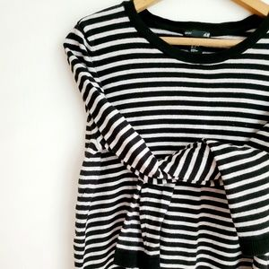 H&M BASIC | Striped Crew Neck Sweater